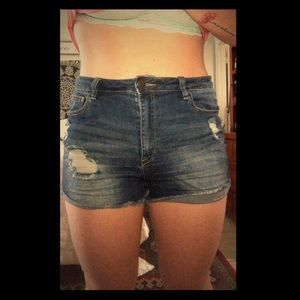 High Waisted Shorts - Charlotte Russe